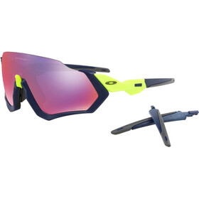 Oakley Flight Jacket Bike Glasses yellow/blue